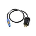 NEMA L6-20 to powerCON® Blue Adapter