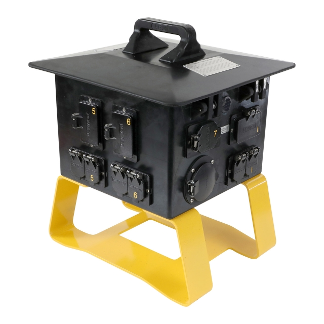 50 Amp Terrapin Station II™, Feed Thru Spider Box to GFCI Duplex/L6-30 Receptacles