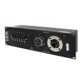 50 Amp 3RU Enclosed Rack, 50 Amp Locking Inlet to Duplex Receptacles