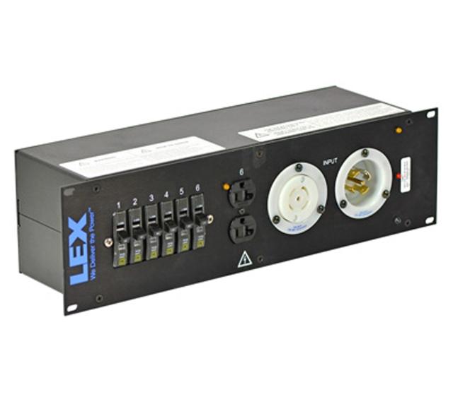 30 Amp 3RU Enclosed Rack, L21-30 to L5-30/Duplex Receptacles