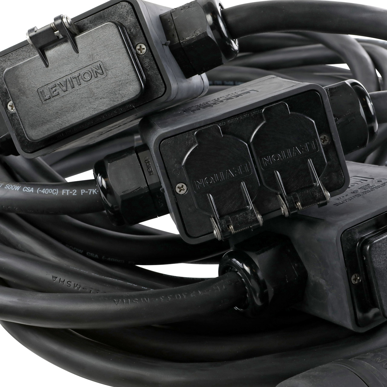 20A (3) Phase GFCI Quad Stringer - Black
