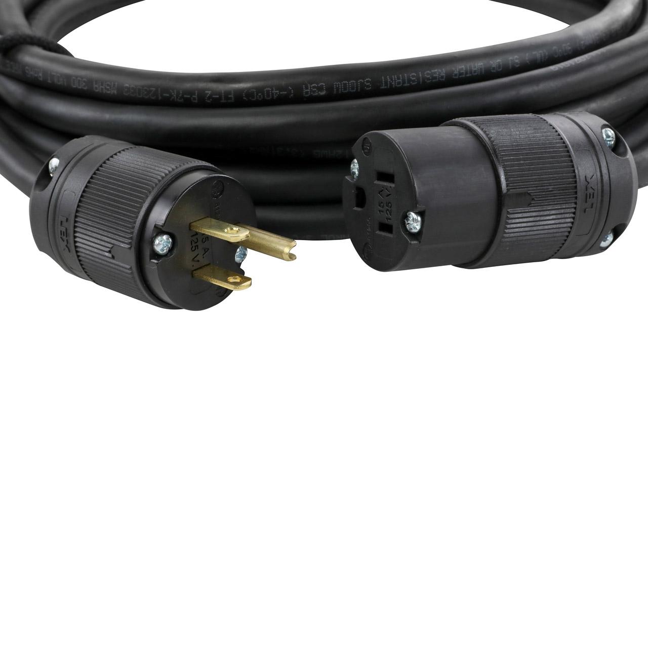 NEMA 5-15 Lex-Loc® (Edison) Extension - SJOOW Cable