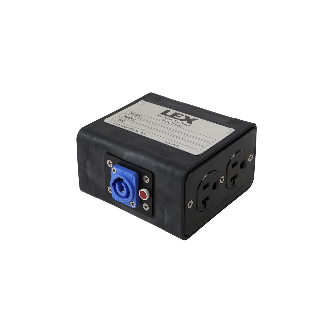 20 Amp Quad Box powerCON® to Duplex Receptacles