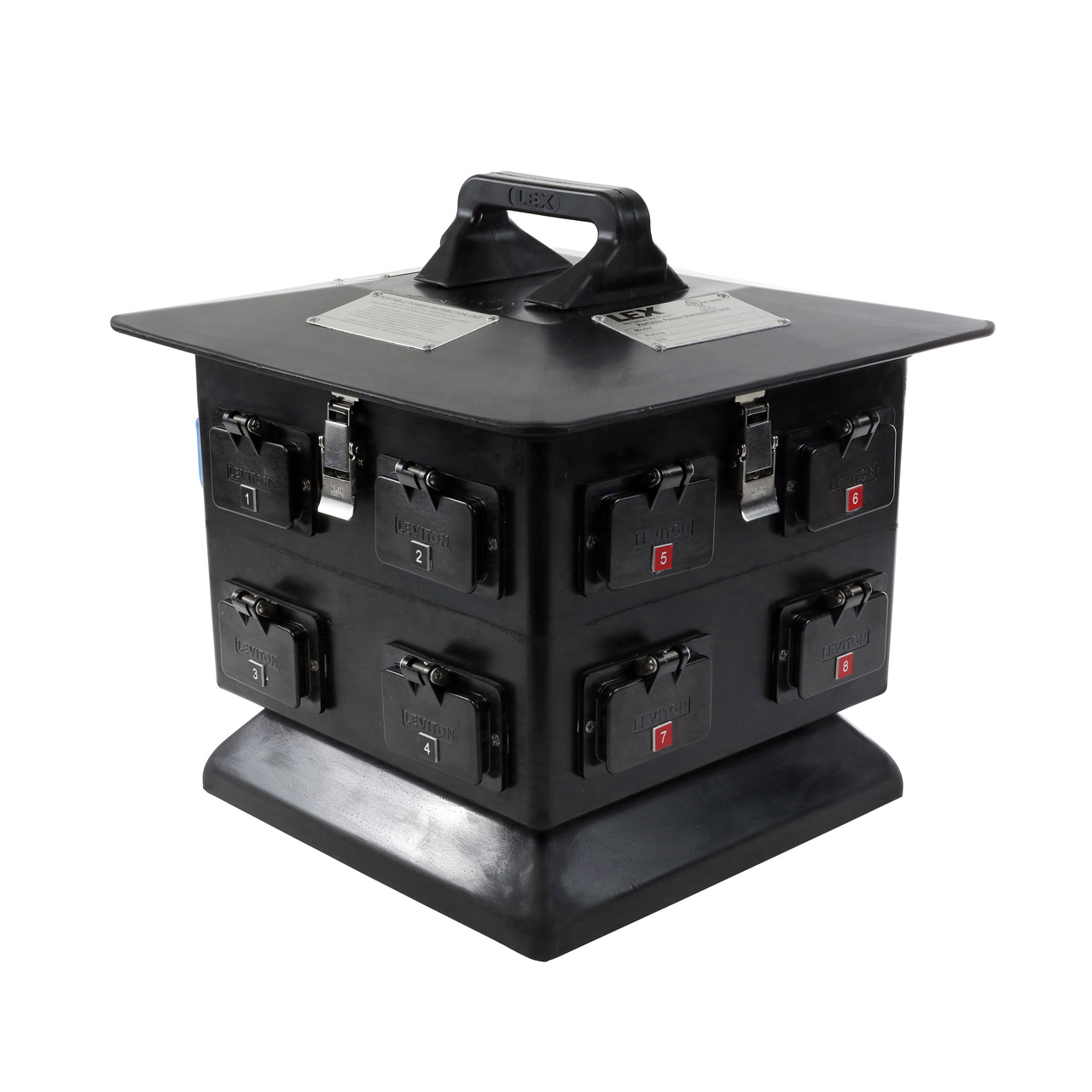 100 Amp Pagoda to GFCI Duplex Receptacles, Weather Resistant