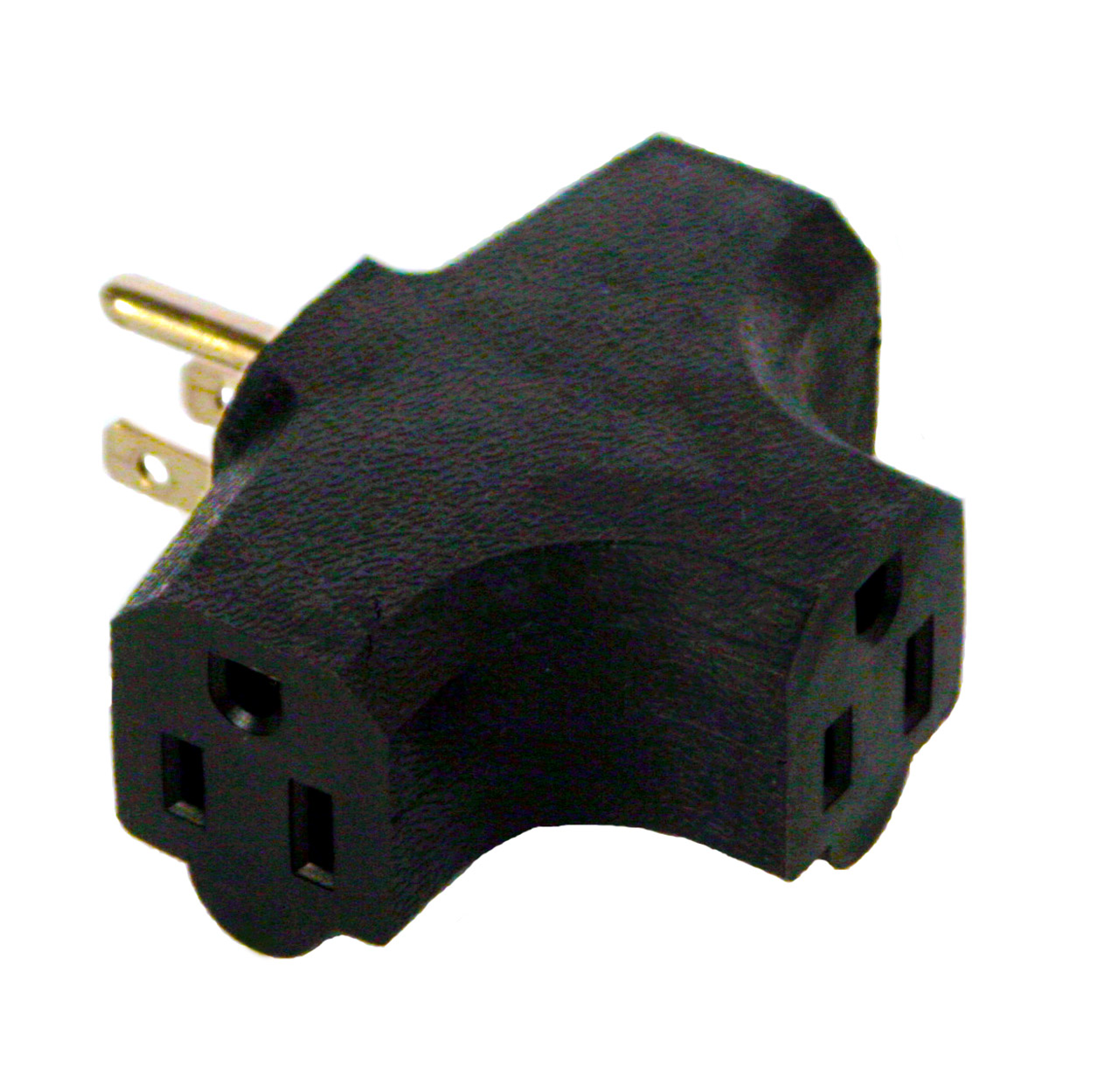 Molded NEMA 5-15 (Edison) Tri-Tap