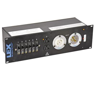 30 Amp 3RU Enclosed Rack, L21-30 to L21-30/Duplex Receptacles