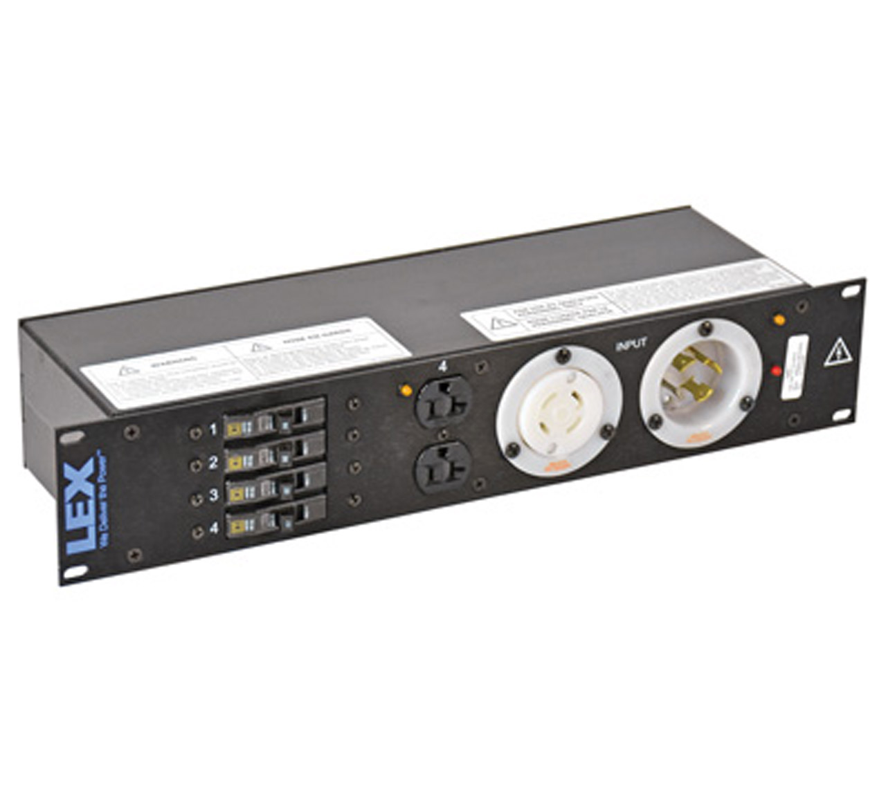 30 Amp 2RU Enclosed Rack, L14-30 to L5-30