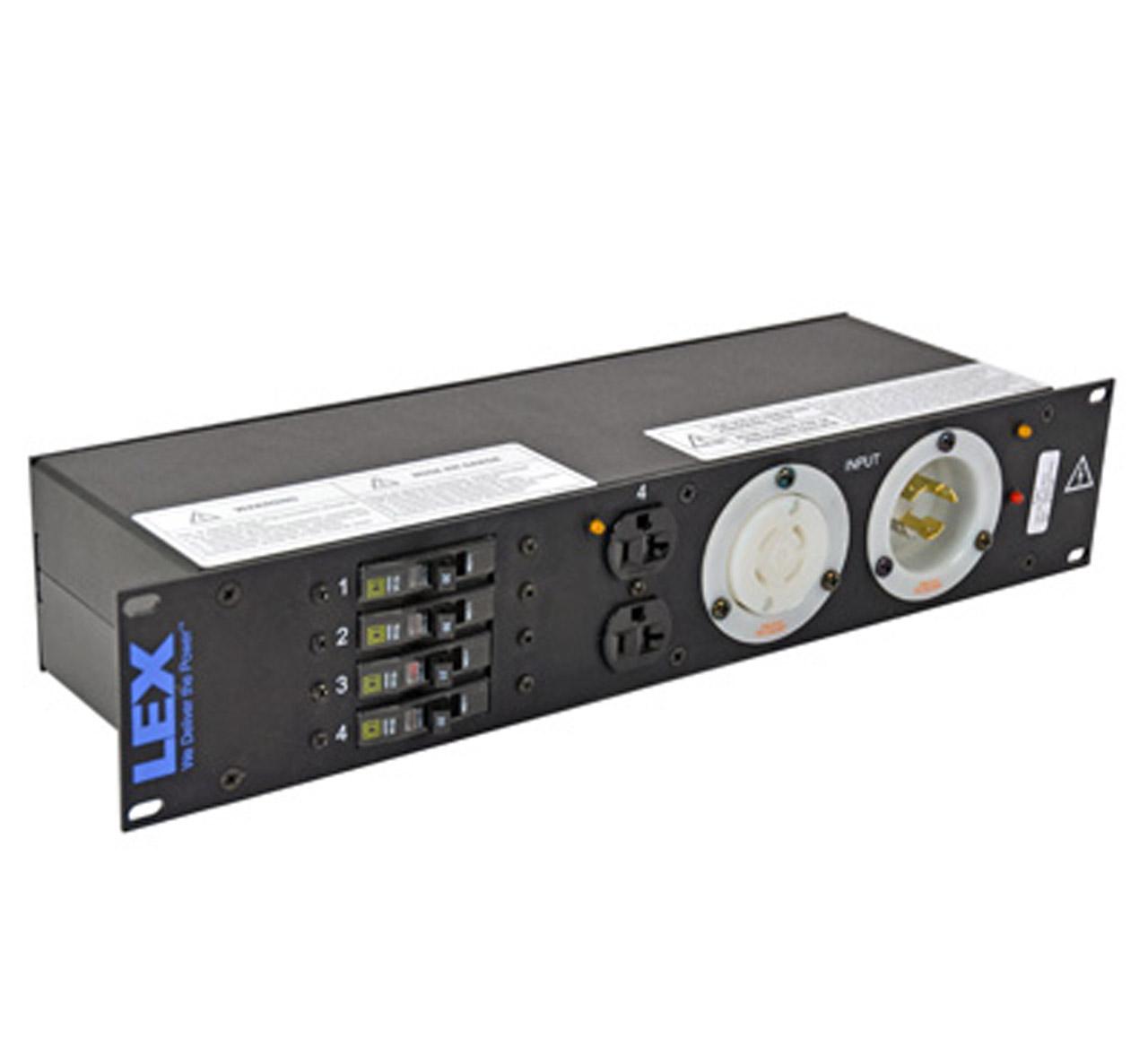 30 Amp 2RU Enclosed Rack, L14-30 to L5-30/Duplex Receptacles