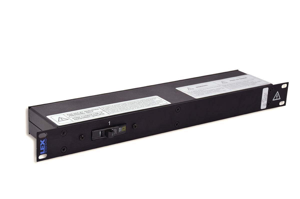 20 Amp 1RU Enclosed Rack, powerCON® to Duplex Receptacles