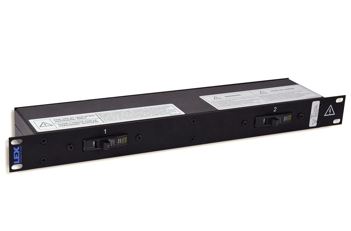 30 Amp 1RU Enclosed Rack, powerCON® to Duplex Receptacles
