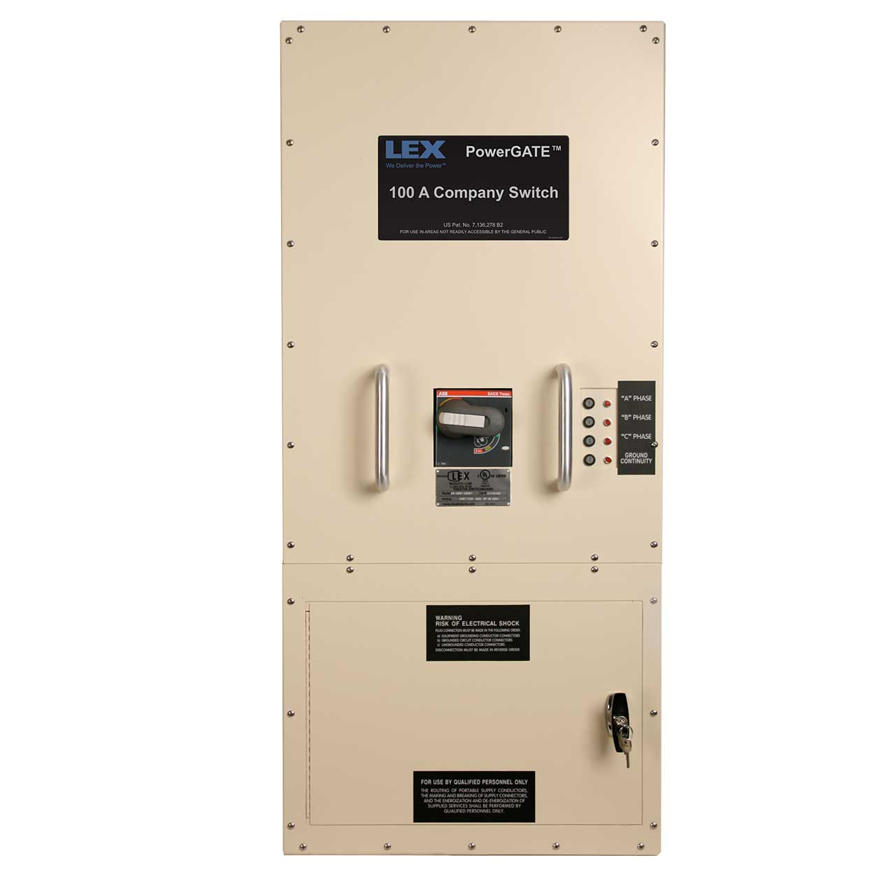 60 Amp Company Switch with IEC 60309 Pin & Sleeve Receptacle and Lugs, Indoor Use