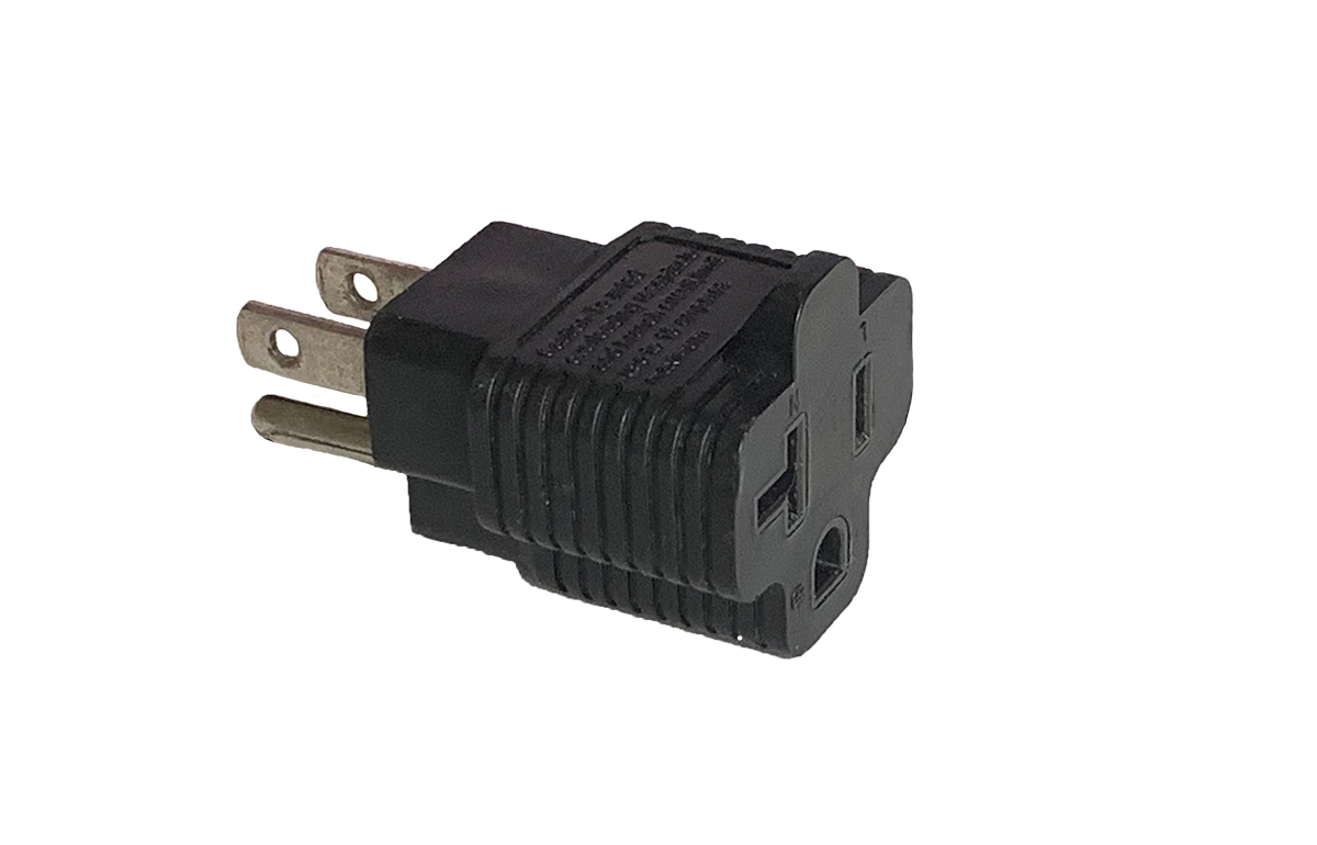 Molded NEMA 5-15 to 5-20 (Edison) Adapter