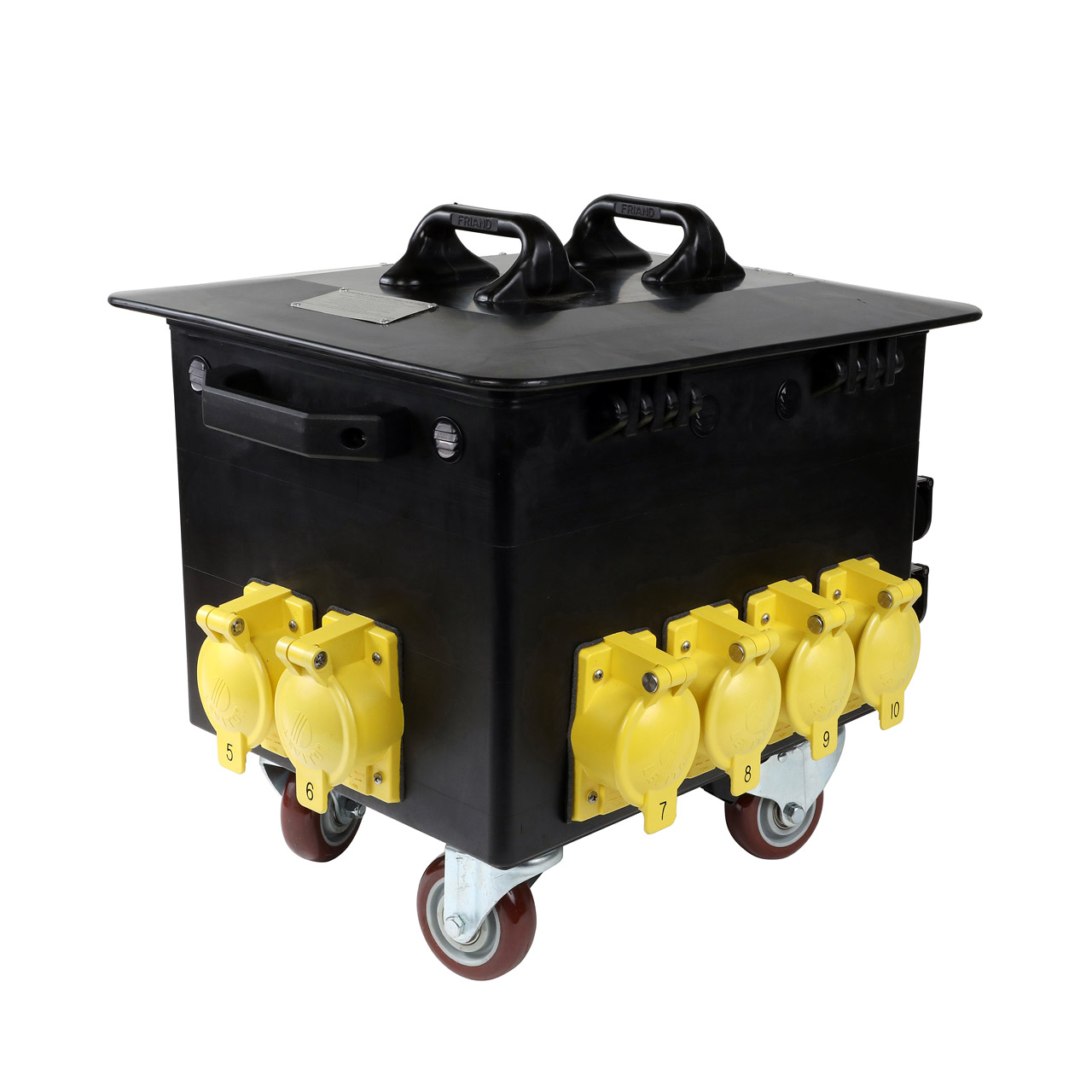 400 Amp Power Station with Casters to California Style Locking Receptacles, Weather Resistant